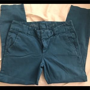 Jcrew Andie Chino in Teal size 8